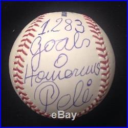 Brazil Soccer Superstar Pele Signed Baseball PSA 1283 Goals 0 Homeruns