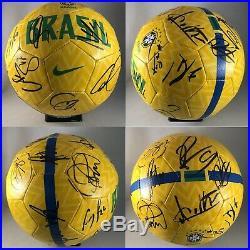 Brazil Soccer Team Signed Soccer Ball Brasil Futbol Neymar Coutinho 16 Autograph
