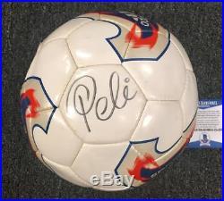 Brazil legend PELE Autograph Signed ADIDAS Soccer Ball Beckett BAS COA