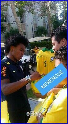 Brazil signed soccer ball by Kaka, Ronaldinho, Coutinho, Dunga, Dida, Pato, etc