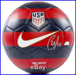 CHRISTIAN PULISIC Autographed Nike 2018 USA Prestige Soccer Ball PANINI