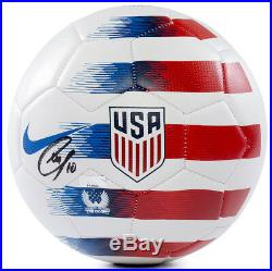 CHRISTIAN PULISIC Autographed Nike 2018 USA White Prestige Soccer Ball PANINI