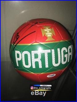 CRISTIANO RONALDO SIGNED PORTUGAL SOCCER BALL NIKE PSA a