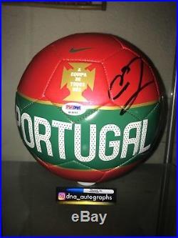 CRISTIANO RONALDO SIGNED PORTUGAL SOCCER BALL NIKE PSA b