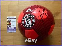 Chicharito Javier Hernandez Signed Manchester United Futbol Soccer Ball JSA Coa