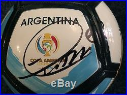 Chile Copa America Eduardo Vargas Autographed Signed Size 5 Soccer Ball COA