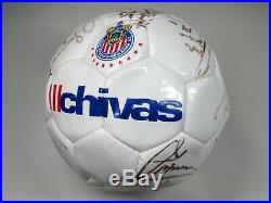 Chivas de Guadalajara 2002 Team Signed Soccer Ball Balon Autografiado