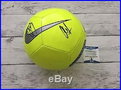 Christian Pulisic Clint Dempsey Signed NIKE Soccer Ball Beckett BAS COA b