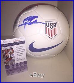 Christian Pulisic Signed Autograph USA Soccer Ball Usmnt Jsa COA America