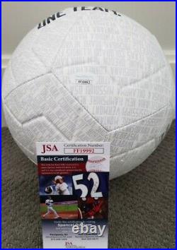 Christian Pulisic Signed Team USA Nike Soccer Ball In Person JSA CERTIFIED