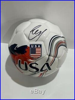 Christian Pulisic Signed Team USA Soccer Ball World Cup Superstar Proof Jsa Coa