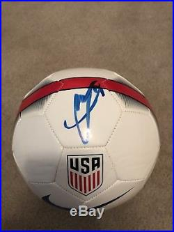 Christian Pulisic Signed USA Ball! Jsa Certified