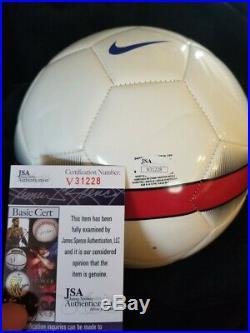 Christian Pulisic signed USMNT Nike USA Soccer Ball Chelsea JSA V31228