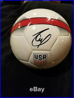 Christian Pulisic signed USMNT Nike USA Soccer Ball Chelsea JSA V31237