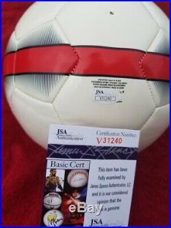 Christian Pulisic signed USMNT Nike USA Soccer Ball Chelsea JSA V31240