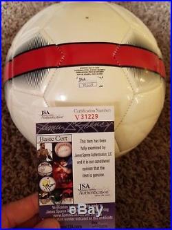 Christian Pulisic signed USMNT Nike USA Soccer Ball JSA V31229
