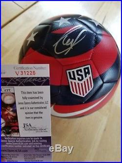 Christian Pulisic signed autographed Nike USA Soccer Ball JSA V31226