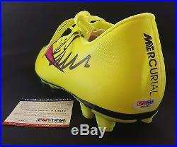 Christiano Ronaldo Autographed Signed Yellow Nike Soccer Shoe Sz 9 PSA