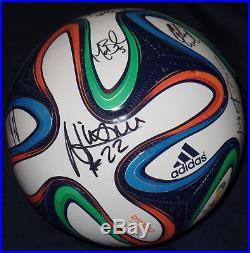 Clint Dempsey Signed Auto Brazuca Soccer Ball Usmnt Yedlin Klinsmann World Cup +