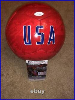 Clint Dempsey Signed USA Soccer Ball Auto Jsa Rare Usmnt Legend Sounders