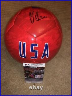 Clint Dempsey Signed USA Soccer Ball Auto Jsa Rare Usmnt Legend Sounders 2