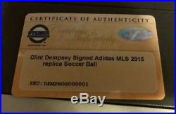 Clint Dempsey signed autographed soccer ball with Certificate of Authenticity