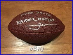 Coach Jon Gruden + Owner Mark Davis Oakland Raiders Signed Football Auto Jsa Coa