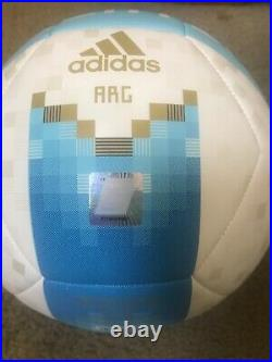 Cristian Pavon Autographed Argentina Soccer Ball FIFA World Cup Russia 2018 BAS
