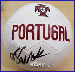Cristiano Ronaldo Auto Autograph Signed Nike Portugal Soccer Ball Psa / Dna