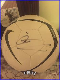 Cristiano Ronaldo Autographed Ball PSA/DNA