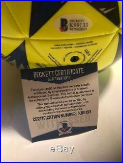 Cristiano Ronaldo Autographed Full Size Soccer Ball 1 Beckett Witnessed COA