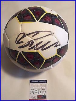 Cristiano Ronaldo Autographed Full Size Soccer Ball PSA/DNA COA
