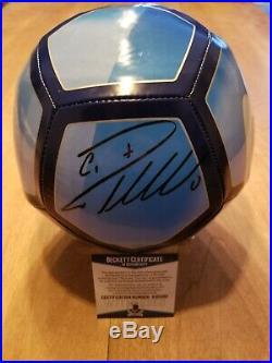 Cristiano Ronaldo Autographed Signed Soccer Ball Nike Juventus Coa Beckett