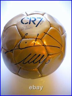 Cristiano Ronaldo Autographed Soccer Ball CR7 MUSEUM signed