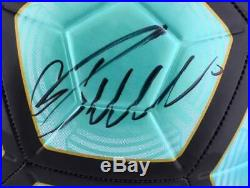 Cristiano Ronaldo Juventus F. C. Autographed Teal Nike Mercurial Soccer Ball