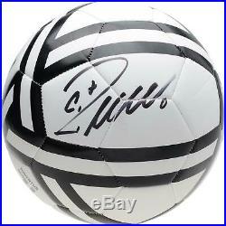 Cristiano Ronaldo Juventus F. C. Autographed White Adidas Logo Soccer Ball