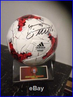 Cristiano Ronaldo Portugal Signed Ball Krasava Pallone Autografato Ronaldo cr7