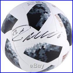Cristiano Ronaldo Real Madrid CF Signed 2018 FIFA World Cup Telstar Soccer Ball