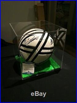 Cristiano Ronaldo Signed Auto Adidas Juventus Ball + UV Protective Display BAS