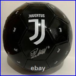 Cristiano Ronaldo Signed Autographed Juventus Soccer Ball CR7 Football Black