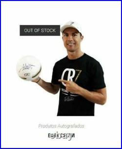 Cristiano Ronaldo Signed Ball White CR7 Museum Original