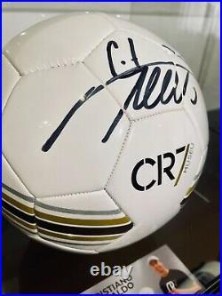 Cristiano Ronaldo Signed Ball with Acrylic Box
