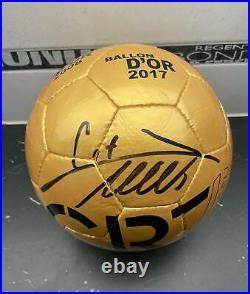 Cristiano Ronaldo Signed CR7 Museum Ball Gold