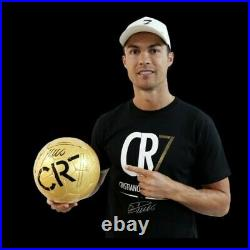 Cristiano Ronaldo Signed CR7 Museum Ball Gold Soccer CR7 Museum Store to Europe