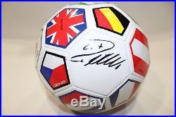 Cristiano Ronaldo Signed International Flags Soccer Ball (Beckett COA) Autograph