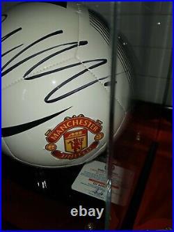 Cristiano Ronaldo Signed Nike Manchester United Logo Soccer Ball With Coa