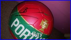 Cristiano Ronaldo Signed Portugal Soccer Ball Nike Psa