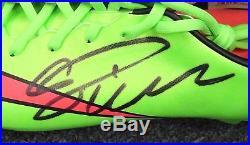 Cristiano Ronaldo Signed Red Green Soccer Cleat AUTO Sz 10 PSA/DNA COA
