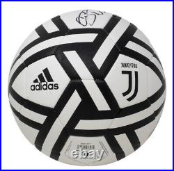 Cristiano Ronaldo Signed White F. C. Juventus Soccer Ball Fanatics