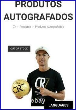 Cristiano ronaldo cr7 museum hand signed golden soccer ball autograph